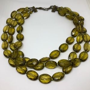 CLEARANCE -Vintage green bead necklace